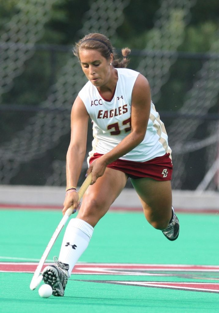 Photo of Emily Kozniuk playing for Boston College